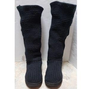 UGG Black Classic Tall Cardy Boots 5819 SZ. 11